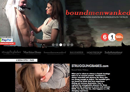 Great adult site offering hot bondage flicks