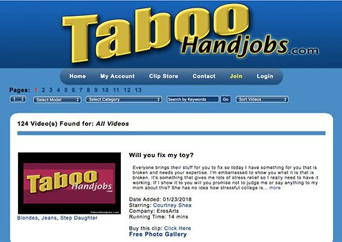 Amazing taboo porn site to enjoy professional hand jobs by beautiful women